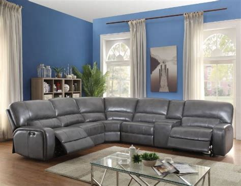 saul grey reclining sectional  american furniture