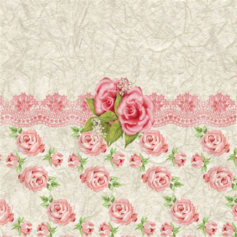 pattern vintage rose vintage pink and cream rose pattern digital art by debra