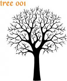 Tree Stencil Template by Vm Tree 001 V Mask Foils Stencils