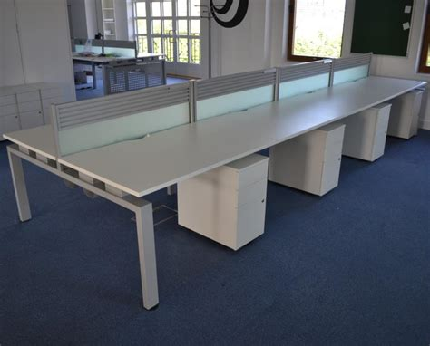 white bench desks senator white 1200 bench desks