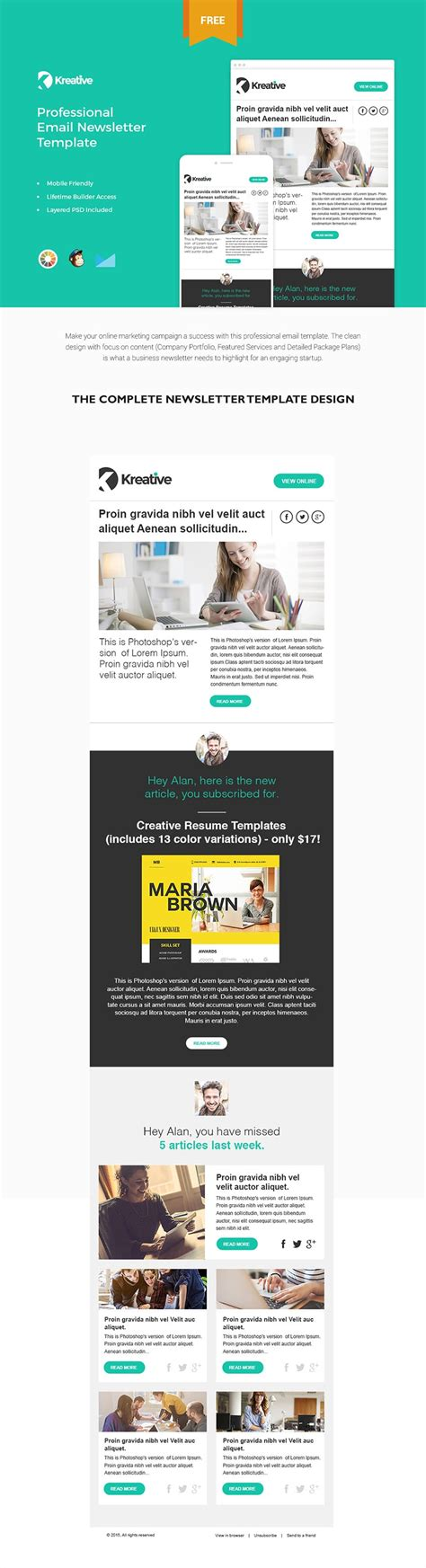 Free Email Newsletter Templates Psd 187 Css Author Free Email Newsletter Templates