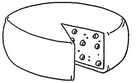 imagenes para pintar queso dibujos de quesos para pintar