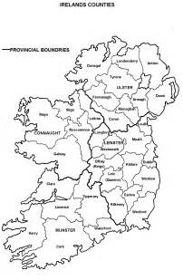 County Map Of Ireland Outline by Clan Furey Clonlonan