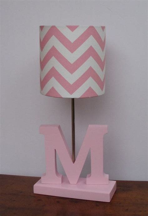small pink l shade small baby pink white chevron drum l shade nursery or