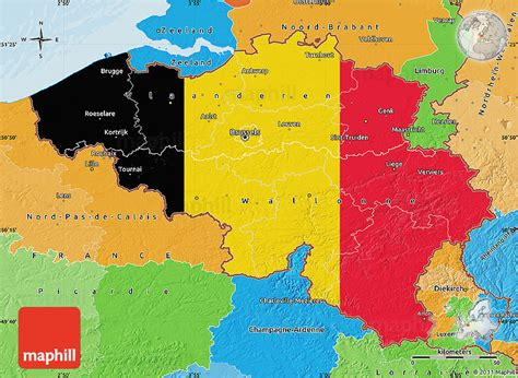 belgium on map of europe flag map of belgium political outside new zone