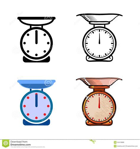 Kitchen Settings Design by Kitchen Scales Stock Vector Image 55418886