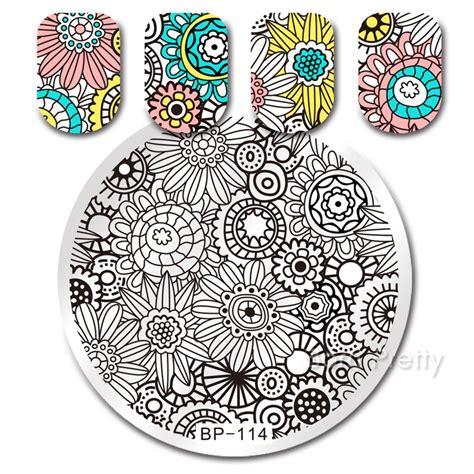 Born Pretty Bp77 Negative Space Pattern Nail St 1 99 born pretty negative space pattern nail st template image plate bp77