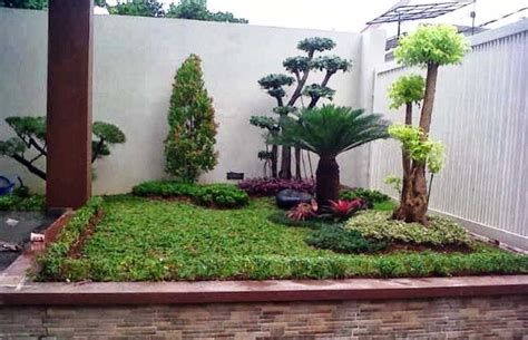 desain taman minimalis kreatif depan   belakang rumah