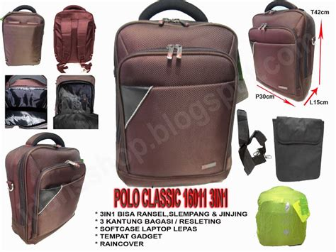 Ransel Laptop Polo Kw distributor tas rangsel ransel laptop 3in1 polo classic 16011