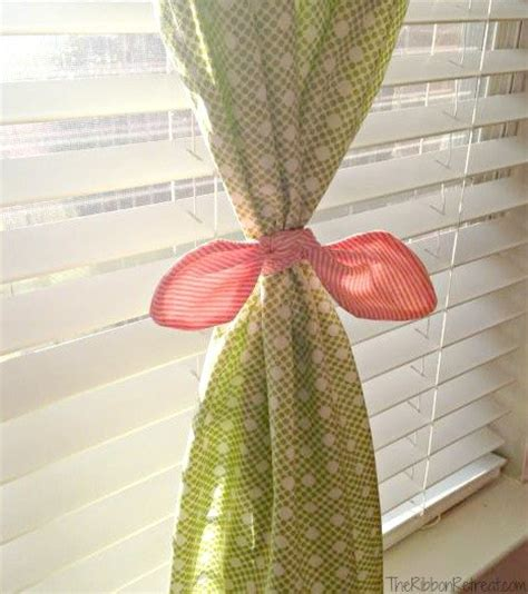 how to make curtain tie backs with ribbon diy custom tie curtains the ribbon retreat blog