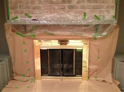 Painting Brass Fireplace Doors by 1000 Ideas About Brass Fireplace Makeover On