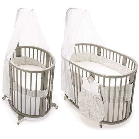 Stokke Crib System by Sleepi System1 And Mattress Gray Cribs