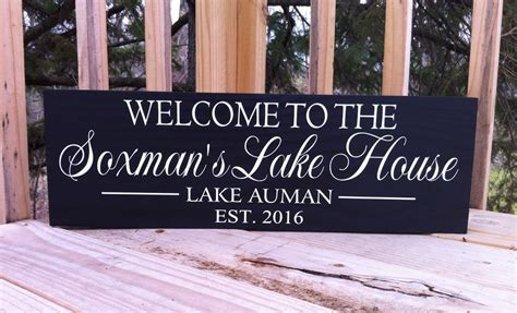 custom lake house signs lake house decor personalized lake