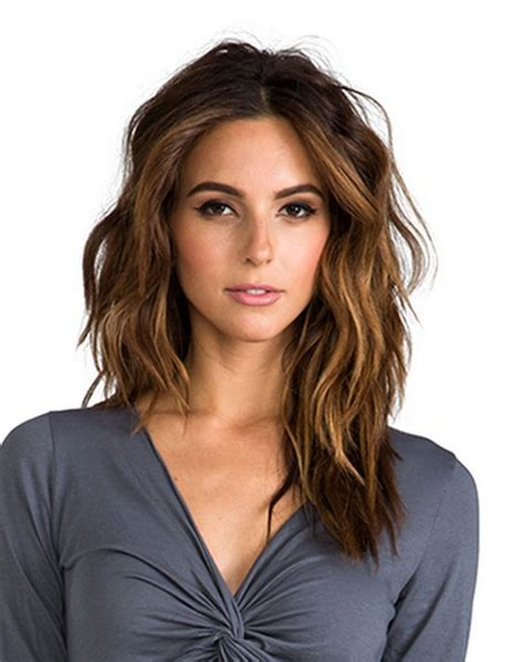 face framing layers medium wavy hair medium length hair highlights with caramel color