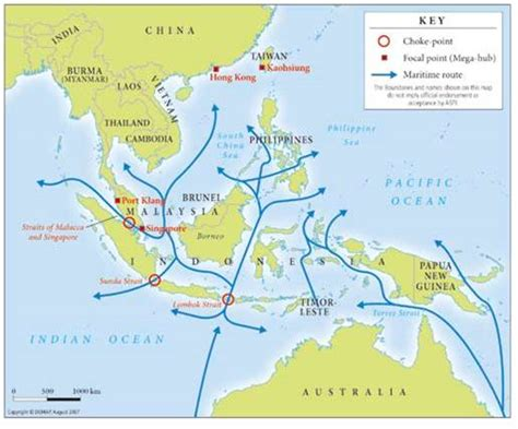 asia sea map images
