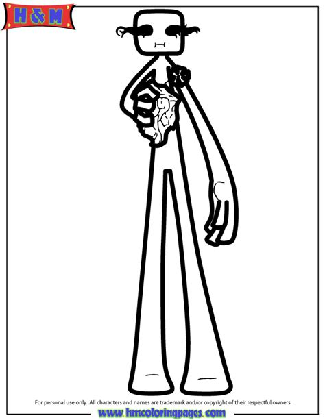 minecraft enderman coloring pages www pixshark com