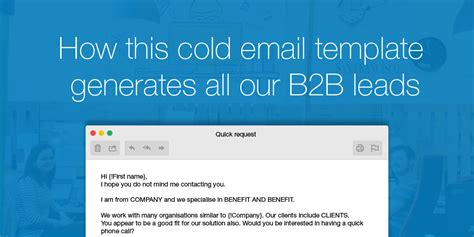 prospect email template the cold email message that generates all our b2b