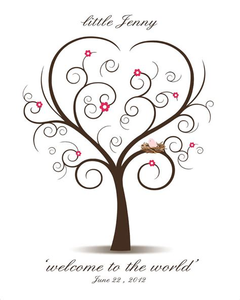 baby shower thumbprint tree template items similar to baby shower fingerprint tree printable