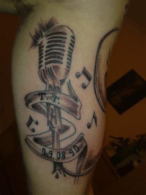 microphone music tattoo designs tattooblr microphone tattoo design