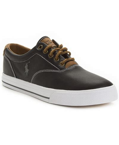 polo ralph vaughn leather sneakers shoes