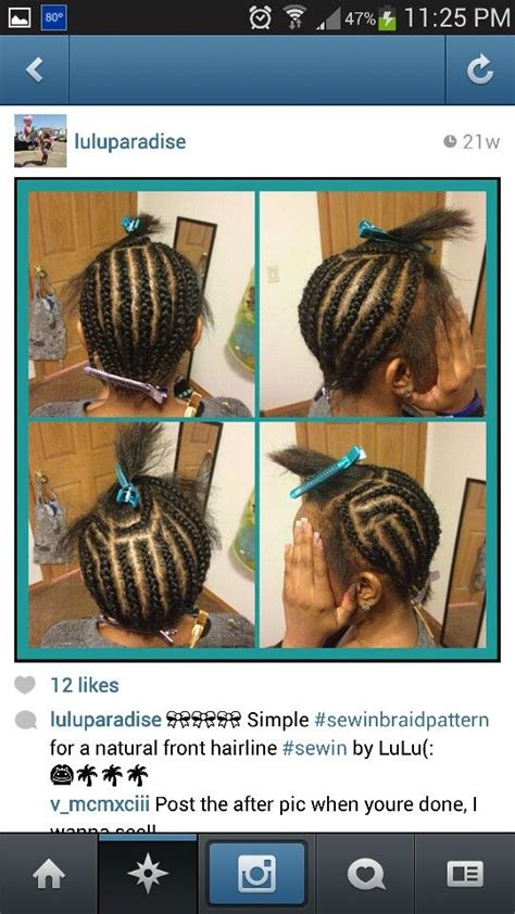 pictureof sewin braids 59 best braid pattern images on pinterest weave hair