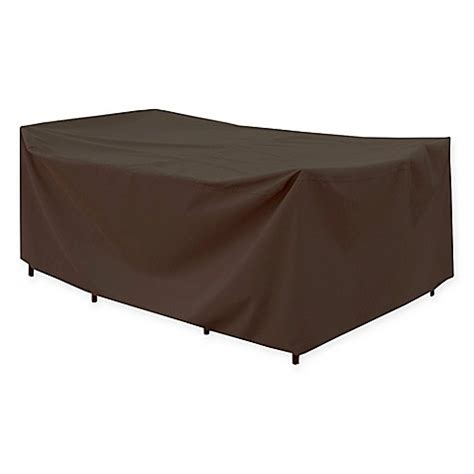 Rectangular Patio Table Cover Canvas Rectangular Patio Table Cover In Brown Black Bed Bath Beyond