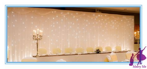 3x6m White Wedding Backdrop Curtain With Swag And Led Light Backdrop For Sale
