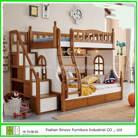 kids double bed 903 hot selling kids double deck bed cheap wooden bunk bed