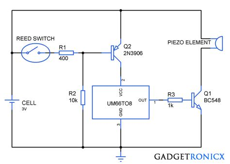 how to make musical greeting cards at home musical greeting card circuit using um66 ic gadgetronicx