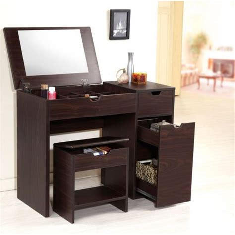 bedroom vanity with storage brown bedroom bathroom vanity table stool multi storage