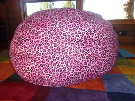 Pink Leopard Chair by Pink Leopard Print Bean Bag Chair Cover By