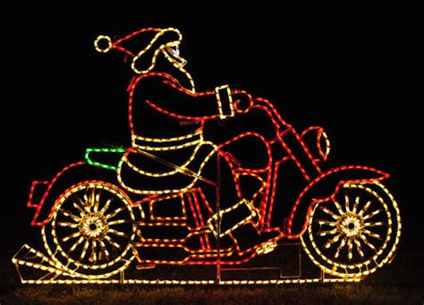 santa on motorcycle lights pictures photos and images