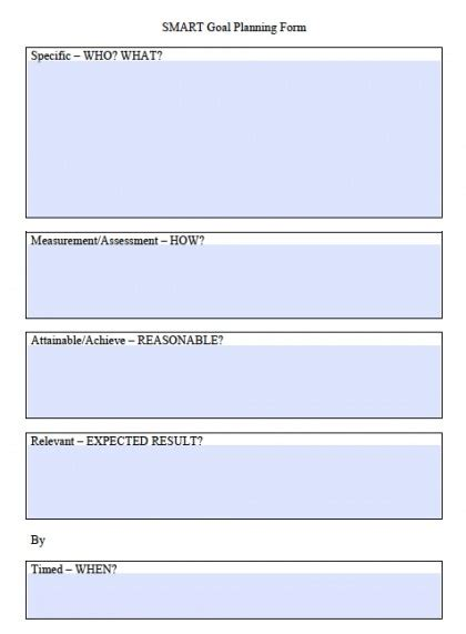 smart goals template excel calendar monthly printable