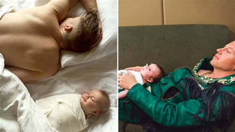 Macklemore sleeps alongside his baby, melts hearts on
