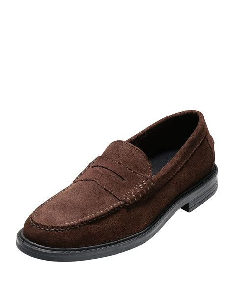 cole haan brown loafer cole haan pinch cus suede loafer in brown for