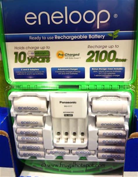Sale Panasonic Charger Batt Eneloop Aa2s costco sale panasonic eneloop 12 count rechargeable batteries charger 24 99 frugal hotspot