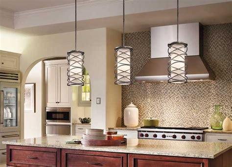 lights above kitchen island when hanging pendant lights a kitchen island like these kichler corporate krasi pendants