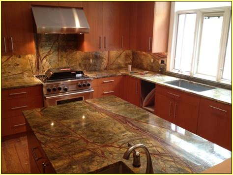 rainforest brown granite countertop home design ideas