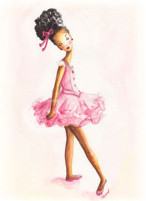 Designer Vs High Ballet Inspired Black And Pink by Ballerina Print By Yellowrosedbs On Etsy