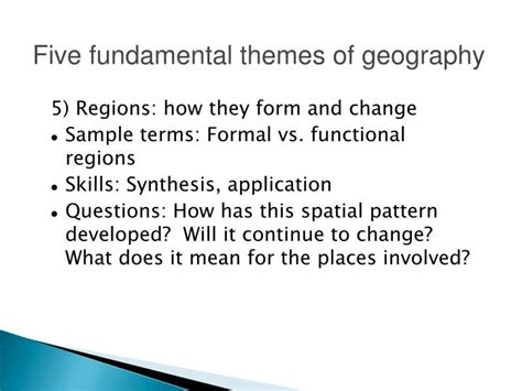 themes of geography questions ppt introduction to geography powerpoint presentation