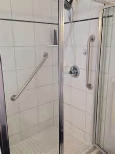 handrails for showers interior bathroom shower stall design with stainless frame