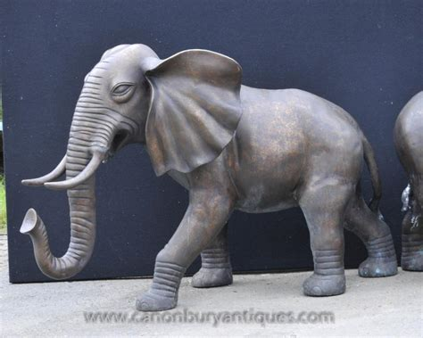 elephant statue pair large bronze elephants elephant statue animals dumbo