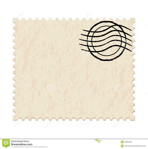 blank white post stamp stock vector image of customizable