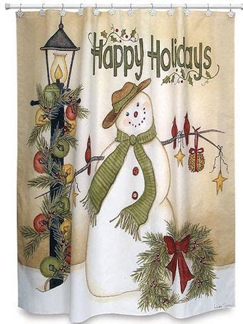 country christmas shower curtain 17 best images about jingle bell bathroom on pinterest