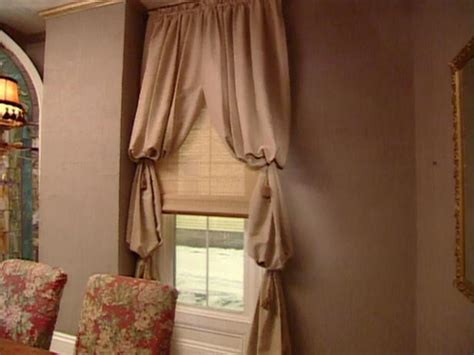 drapes to go bishop s sleeve window treatment hgtv