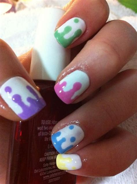 colorful nails  summer pretty designs