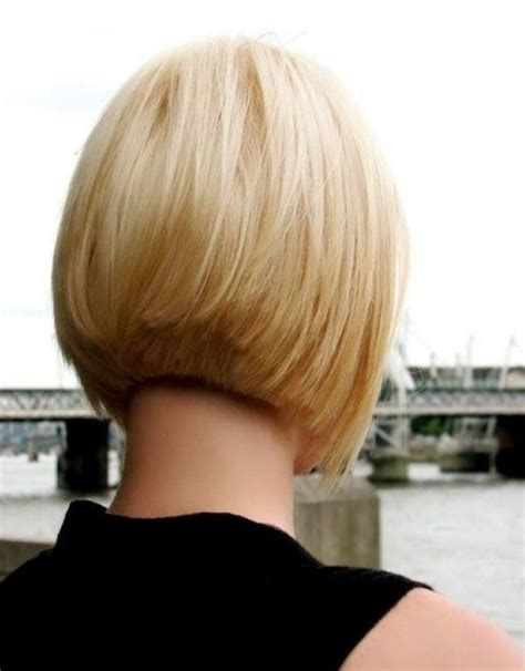 back and side view of short layered hairstyles short layered bob hairstyles back view 18 with short