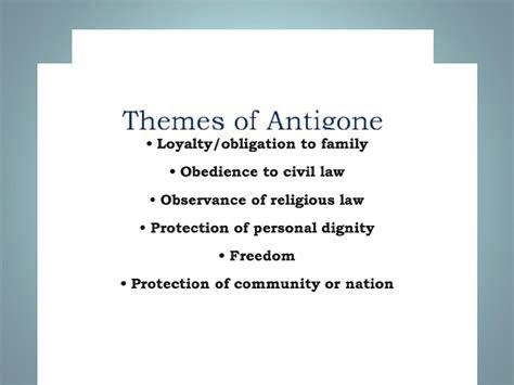 Antigone Themes Ppt | themes of antigone