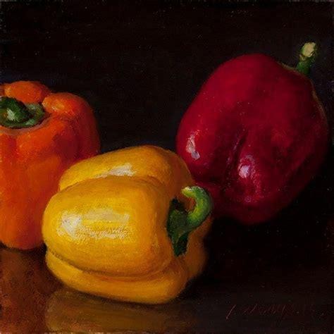 vegetables painting bell pepper original painting still vegetable
