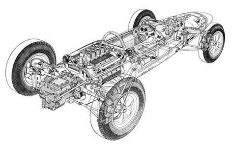 Gorden Lotus lotus with brm engine by gordon bruce drawings and maps